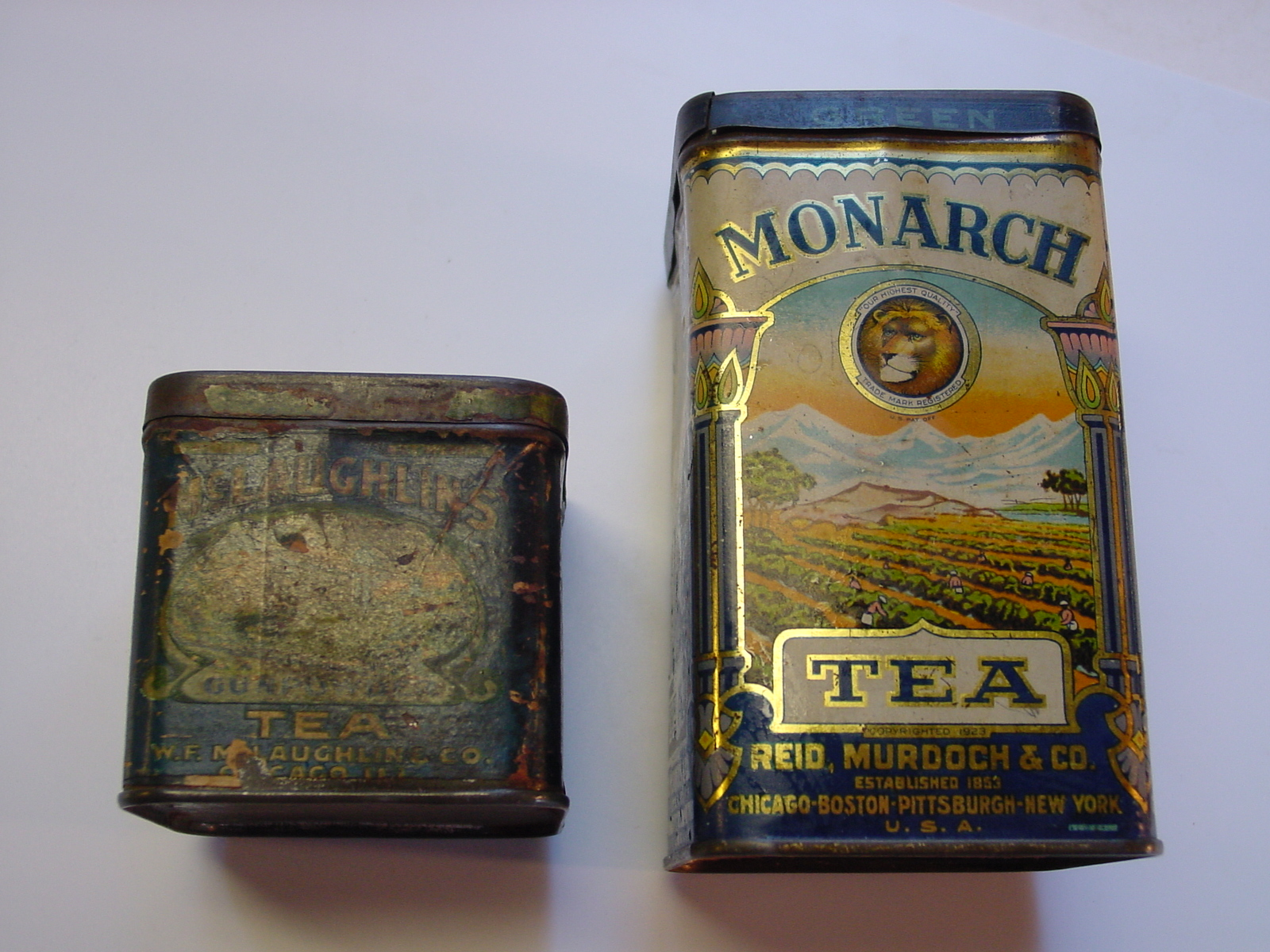 Monarch & Gun Powder Tea Tins